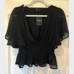 NWT Chiffon Butterfly Sleeve Top